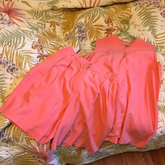Woodward Collection Pants - Woodward 100% Silk Pink Two-Piece Summer Set